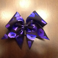 Purple Kisses Cheer Bow by MadCheerBowtique by MadCheerBowtique