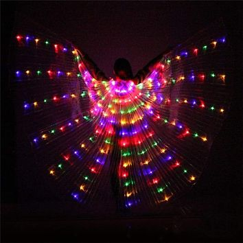 300 LED Glowing Wing Light AA Battery Powered Cosplay Wing Light For Halloween Dance Costume Angle Wings Light For Stage Cosplay Macchar Cosplay Catalogue