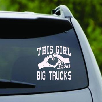 DABBLEDOWN DECALS This Girl Loves Big Trucks Decal Sticker Car Window Truck Laptop Tablet