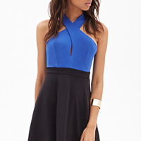 FOREVER 21 Twist-Back Colorblocked Dress