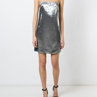 Saint Laurent Metallic Cami Dress - Forty Five Ten - Farfetch.com
