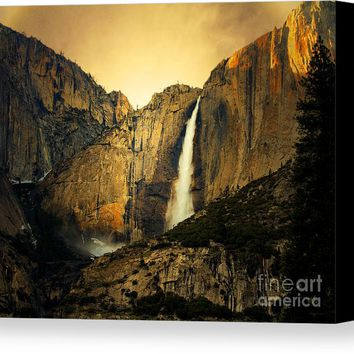 Golden Bridalveil Fall Canvas Print