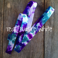 DIY Tie Dye Hair Ties by Elastic Hair Bandz on Etsy
