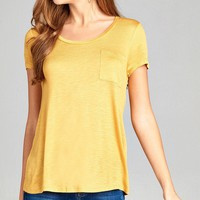 Scoop Neck Slub Top