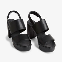 Slingback platform sandals - Black magic - Shoes - Monki GB