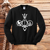 symbol harry potter and Catching fire sweater unisex adults