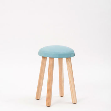 Douglas and Bec - All Circle Stool with Leather Seat
