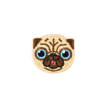 Pug Dog Mini Sticker Patch