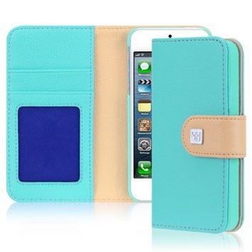 iPhone 5 \ 5s Case, CaseCrown Wallet Case (Baby Blue)
