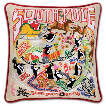 South Pole Hand Embroidered Pillow