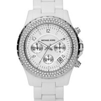 Michael Kors Watch, Women's Madison White Acetate Bracelet 42mm MK5300 - All Watches - Jewelry & Watches - Macy's
