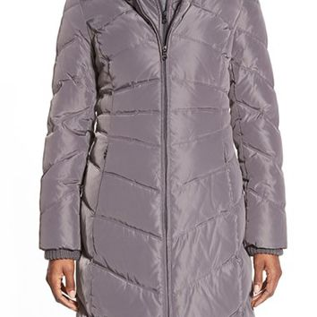 Women's Jessica Simpson Knit Trim Down & Feather Fill Coat,