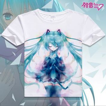 Hatsune Miku Short Sleeve Anime T-Shirt V2
