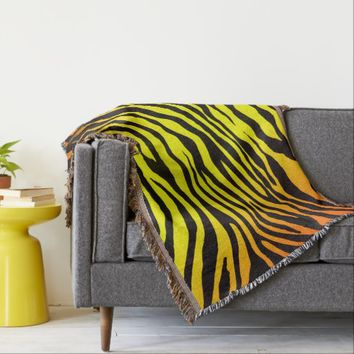 Tiger Stripes Throw Blanket