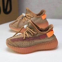 adidas Yeezy Boost 350 V2 CLAY Toddler Kid Running Shoes Child Low Top Sneakers