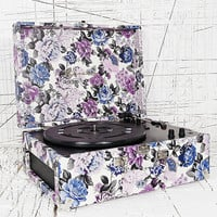 Crosley Keepsake Turntable in Blue Floral EU Plug - Urban Outfitters