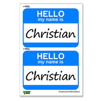 Christian Hello My Name Is - Sheet of 2 Stickers