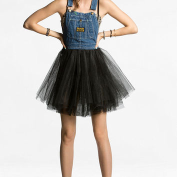 Urban Renewal Tulle-Skirt Overall Dress - Urban Outfitters