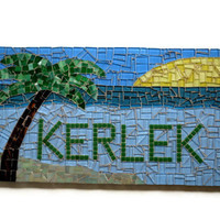 Personalized Mosaic Name Plaque