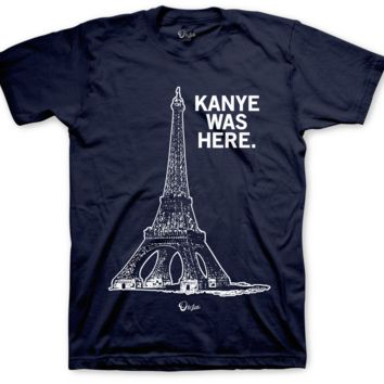 Jordan 4 Dunk From Above Kanye Was Here Navy T Shirt