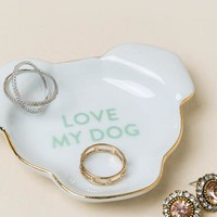 Dog head love my dog trinket dish