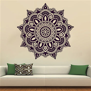Mandala Yoga Oum Om Sign Wall Decal Vinyl Sticker Wall Decor Home Interior Design Art Murals MN342