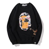 BAPE Men Fashion Casual Logo Print Top Sweater Pullover
