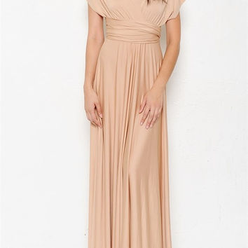 Interchangeable Maxi Dress - Nude