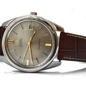 Vintage Automatic Date Omega Seamaster Cal 565 Antique Swiss Watch Functional