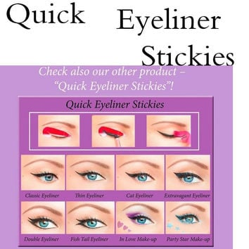 Eyeliner Makeup Tools  Cat Eye&Smokey Eye Makeup Eyeliner Models Template Bottom Eyeliner Card Auxiliary Tool Stencil