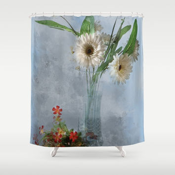 Wildflower Still LIFE Shower Curtain by Theresa Campbell D'August Art