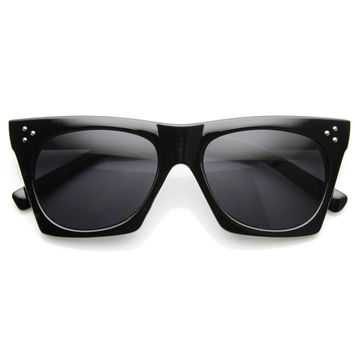 Women's Retro Modern Horned Rim Cat Eye Sunglasses 9136