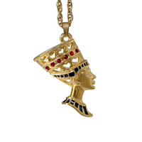 Nefertiti Necklace - Nefertiti Pendant, Nefertiti Jewelry, Egyptian Revival Jewelry, Egyptian Queen Jewelry, Queen Of Egypt Necklace