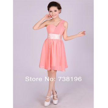Hot ! Promotion Only $29.9 ready to ship in store sweetheart pleat more color Bridesmaid Dresses short for women under $30