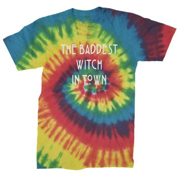 The Baddest Witch In Town  Mens Tie-Dye T-shirt
