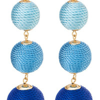 Fabric Wrapped Earrings