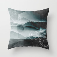 Winter Mountains Throw Pillow by Cafelab