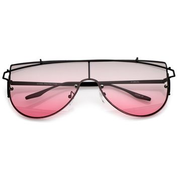 Retro Oversize Disco Shield Multi Color Lens Sunglasses A907