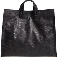 Clare V. Simple Flower Embossed Leather Tote | Nordstrom