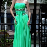 Pretty A-Line Strapless Empire Beadings Zipper-up Evening/Prom Dresses