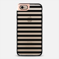 Modern Black White Stripes Monochrome Pattern iPhone 6 case by Girly Road | Casetify