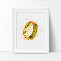 One Ring Watercolor Art Print