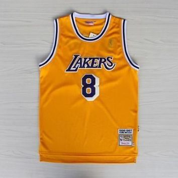La Lakers #8 Kobe Bryant 1996 1997 Season Yellow Swingman Jersey | Best Deal Online
