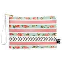 Allyson Johnson Floral Stripes And Arrows Pouch