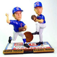 Chicago Cubs Wood & Prior Alternate Forever Collectibles Bobble Mates