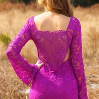 A Minute Without You Dress: African Violet - Dresses