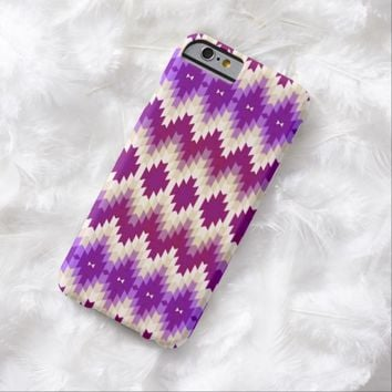 Purple and Fuchsia Jagged Geometric Burst Pattern Barely There iPhone 6 Case