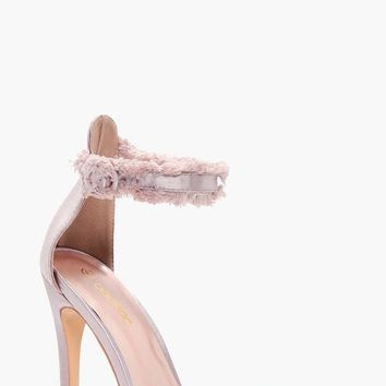 Melissa Satin Frayed Edge Two Part | Boohoo