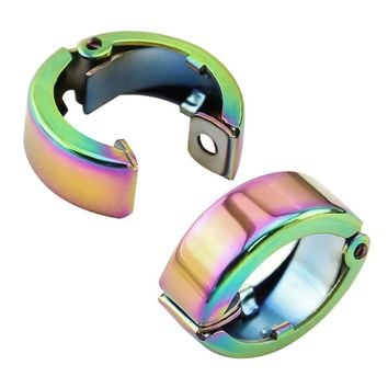 1 Pair Stainless Steel Clip Earrings Without Pierced Ear Clip Simple Style Non Piercing Round Ear Accessories Fashion Bijoux