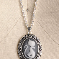 NEW: Ca-meow Necklace - $11.95 : Indie, Retro, Party, Vintage, Plus Size, Convertible, Cocktail Dresses in Canada